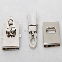 leather handbag hardware twist locks for purse/bag hardware fittings