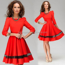 OEM Wholesale Business Women Ladies Work Wear Autumn casual Office Wear Dress Designs Winter Cocktail Party Evening Dress