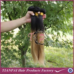 Chocolate ombre hair natural straight most popular human hair weave in American, Tianpai factory wholesale hair weave