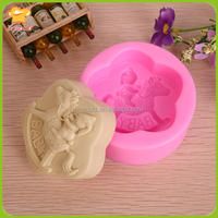 baby horse riding mould silicone molds for cake decorating