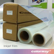 Transparent Screen Printing Waterproof Inkjet PET Clear Film, 100micron