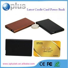 Gift packing power bank credit card size micro usb battery charge,for iPhone Samsung smartphone