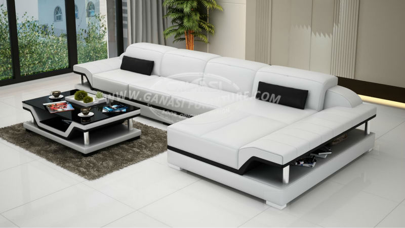 Moderne canap en cuir chesterfield canap salon id de for Types of canape bases