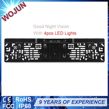 Good night vision EU license plate frame with license plate camera