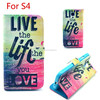 Wholesale Card hold high quality Pu leather wallet case for Samsung S4 9500 many designs in stock