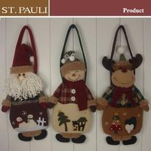 12 inch height 3 dimensional xmas santa claus snowman reindeer felt christmas gift bag
