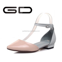 2015 New Ankle Straps Women Summer Flats Pointed Toe dress shoe Spring Mary Jane Shoes For Lady Flats Summer Shoes