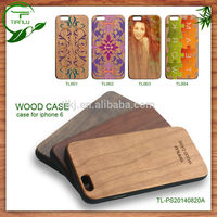 FL2535 OEM pattern for iphone 6 wood case with rubberied case