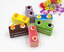 Squishy sponge cake toys with magnet for decoration--Stock available/Yiwu sanqi craft factory