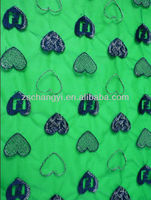 Cheap soft royal Blue Heart style Embroidery voile lace fabric