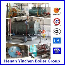 Three-pass smoke tube gas water heater with gas generator