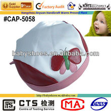 red and white leather fashion baby hats(caps)