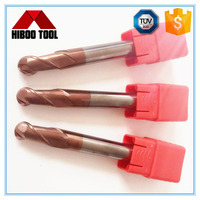 Factory sale HRC45 TiSiN coated carbide long shank round nose end mill