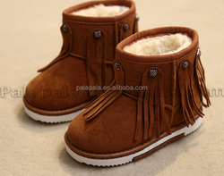 2015 new hot selling Parent child shoes Snow boots the warm cashmere tassel antiskid boots
