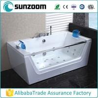 SUNZOOM rectangular corner bathtub ,plastic portable bathtub ,bathtubs wholesale