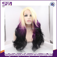2015 wholesale Beauty Stock Cheap 3T synthetic lace front wig, madame german synthetic hair wig