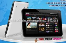Barato 10.1 pulgadas Allwinner A20 Dual Core Tablet PC Dos USB Puerto Bluetooth HDMI Google Android 4.2 Sistema operativo