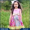 2015 Summer Pink Paisley Polka Dot Dress Childrens Boutique Clothing Boutique Dresses