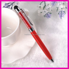 Alibaba china colorful crystal hand writing touch screen roller ball pen made in china