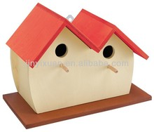 Lovely Wooden Bird House for Two / Hanging Bird House for Sale / Bird Feeder Stand