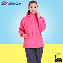 Vêtements de pluie imperméable étanche pour adultes red hood et cape