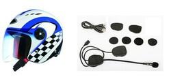 Bluetooth helmet headphone/headset supporting GPS connection/fm radio/mobile phone/walkie talkie