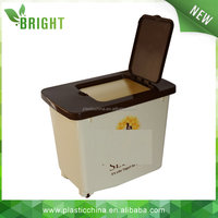 Wholesale high quality plastic storage containers with wheels