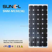mono silicon 150w 12v solar panel price per watt