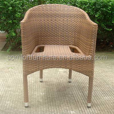 Outdoor Stacking Rattan Chair with Aluminum frame