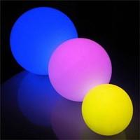 20cm led decorations floating pool decoration led glow ball with led light