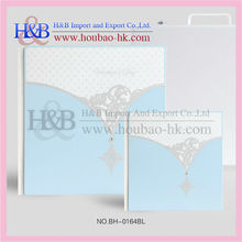 Cheap White And Blue Digital PVC Sheet Photo Album Wedding Books