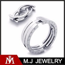 stainless steel forever love adjustable ring , fashion men ring