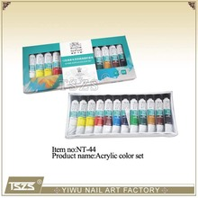 Nail art colours acrylic paint set painting tube set