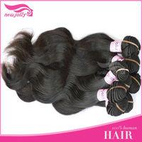 Ideal Hair hot selling brazilian body wave human hair 16 inch hair weft