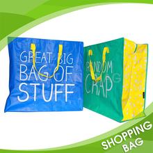 Eco-friendly bopp laminated pp woven shopping bag