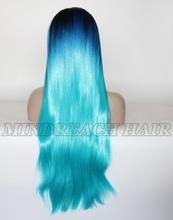 Mindreach hair long synthetic hair wig blue wig