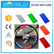Alta calidad de PVC hola viz visible color mezclado del reflector de la bici