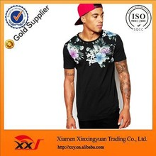 wholesale men wear muscle fit stretch floral print t shirt china clothing manufacturers