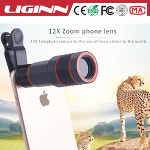 LIGINN 2018 toptan fiyat ile 12X zoom Telefoto cep telefonu teleskop Lens iphone nikon smartphone için evrensel klip
