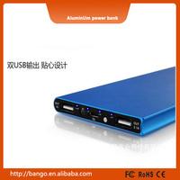 2015 Super slim 8000mah 10400mah metallic power bank portable mobile for phones