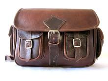 Original Moroccan Handmade Genuine Leather Satchel Messenger Bag Camera Case Bag