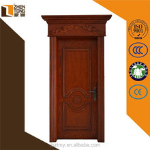 Custom solid wood diamond cutting surface engraving composite modern design solid wooden door