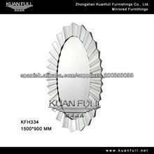Sencillo gran espejo de pared de estilo moderno decente ovalada