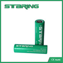 Durable 18650 2500MAH 45A green battery from staring for e-cig/flashlight/e-bike flat top battery cell !!