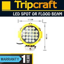 63W flex led offroad work light,led programmable wheel light,63W led drive