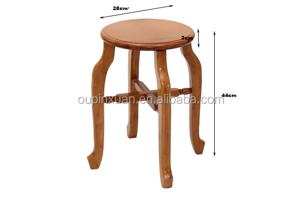 Bamboo Furniture Portable Round Small Sitting Folding