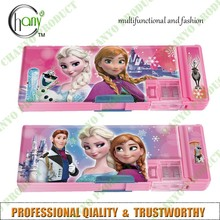 double layered cosmetics multifunction fashion stationary frozen gril school pencil case