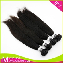Cuticles On The Same Direction 100% Human Hair 10-40 Inchs Silky Straight Indian Hair Extension