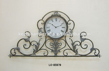 LC-85979 antigua hierro forjado con reloj decoración de pared de metal