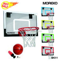 "Mini Basketball Goal MK011 with 18"" PC/Fiberglass/Acrylic Backboard,spring ring/rim"